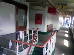 SMS Kartanegara - Trap naar het autodek