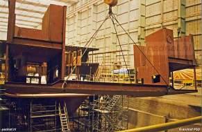 De veerboot Koningin Beatrix is sectie voor sectie gebouwd op scheepswerf De Schelde in Vlissingen.