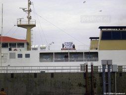 Valentijnsdag 2004, huwelijksaanzoek op de veerboot van BBA Fast Ferries.