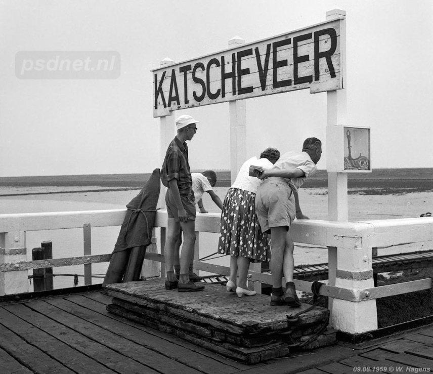 Wachten op de boot in Katscheveer