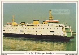 Net als van alle andere PSD-boten bestonden er ook ansichtkaarten met daarop de veerboot Prinses Juliana.