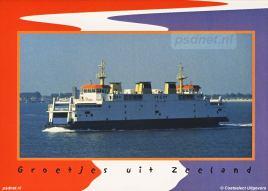 Bijna alle PSD-veerboten zijn te vinden op ansichtkaarten. Zo ook de nieuwste PSD-telg Prins Johan Friso (1997).