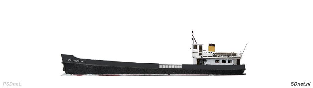 Zijaanzicht PSD Noord-Beveland (1952)