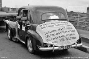 Vrije Veren - Spandoek op auto