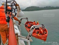 Het PSD-reddingsmateriaal ziet er nog piekfijn uit en er wordt regelmatig geoefend door de bemanning.
