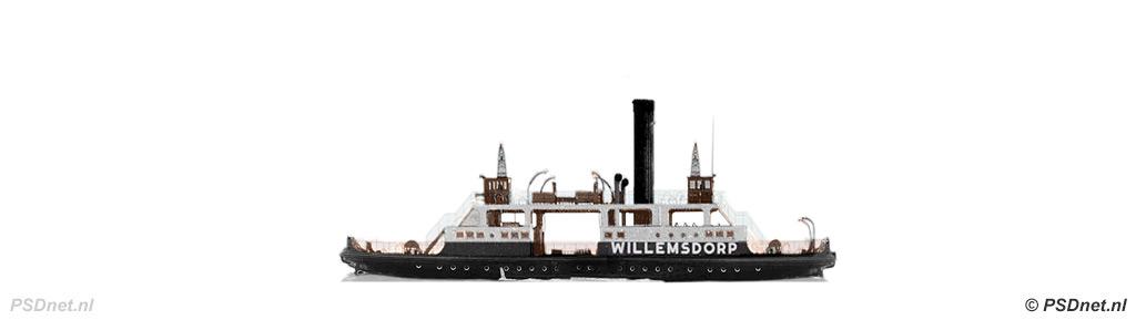 Zijaanzicht Moerdijkpont Willemsdorp (1930)