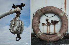 Jarenlang lag de Zijpe in Antwerpen, jaren die de veerboot geen goed deden en uiteindelijk ook het einde betekende van het scheepje dat zonk. Foto: © Andre Joosse / UrbEx.nl
