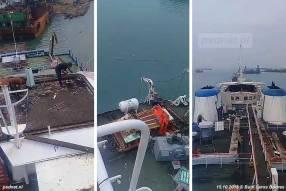 Tot nu toe werden vooral nog bruikbare onderdelen van de Margriet verwijderd (zoals reddingsmiddelen), nu is men echt bezig met het slopen van het schip.