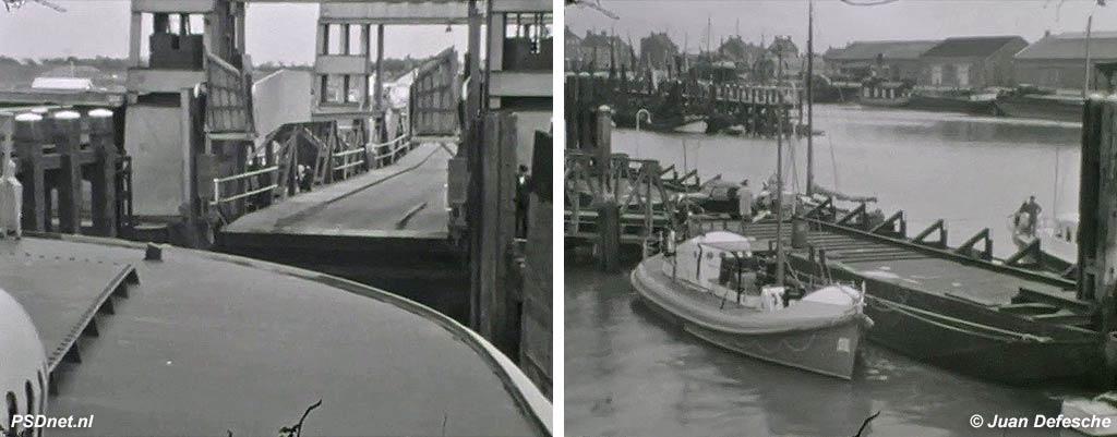 Haven van Breskens met PSD-veerboot en KZHRMS-reddingboot