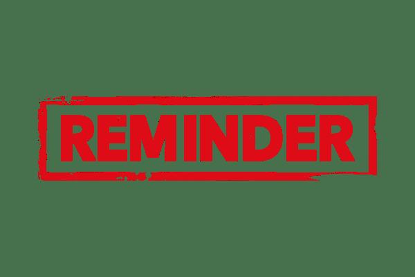 Reminder stamp PSD - PSDstamps