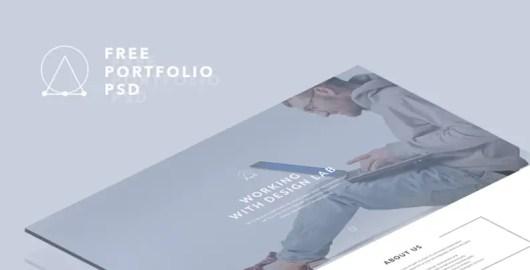 Portfolio Landing Page PSD