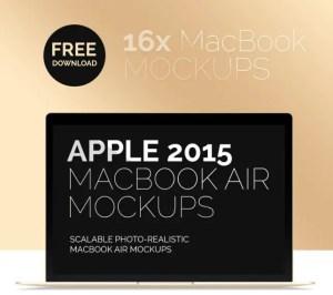 AppleMacBookAirMockupPSD