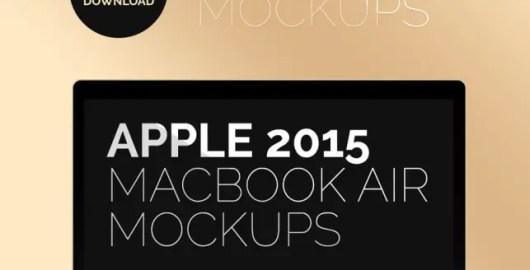 Apple MacBook Air 2015 Mockup PSD