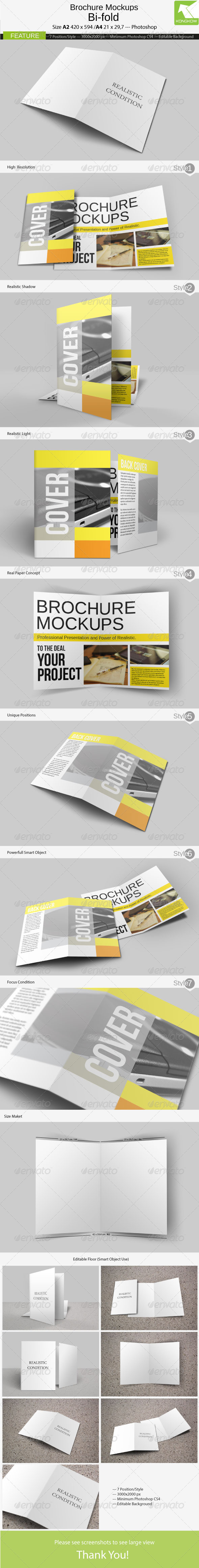 Brochure Mockups 4 Pages