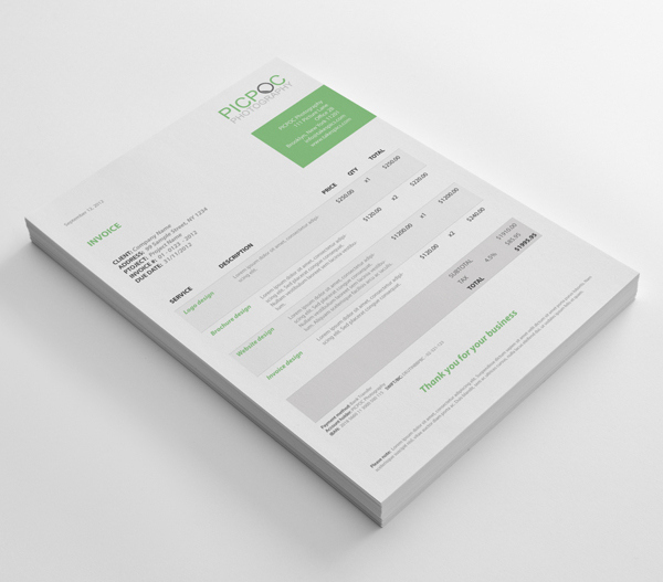 38+ Invoice Templates PSD DOCX INDD - Free Download - PSDTemplatesBlog