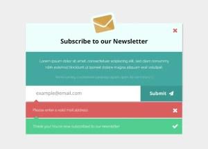 EmailSubscriptionFormMockup FreePSD