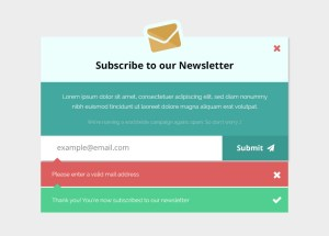 EmailSubscriptionFormMockup FreePSD