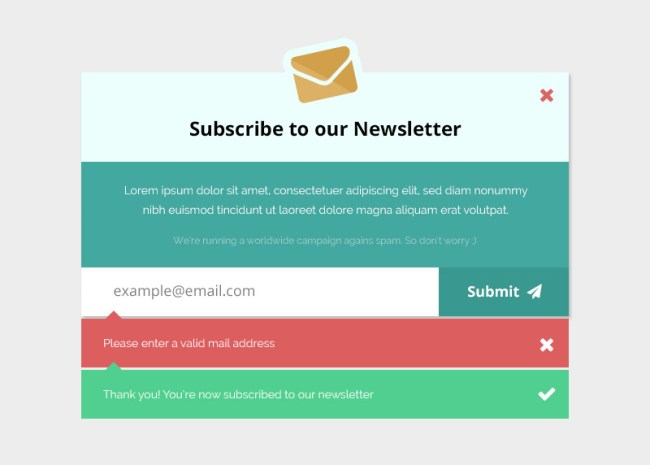 Email Subscription Form Mockup - Free PSD