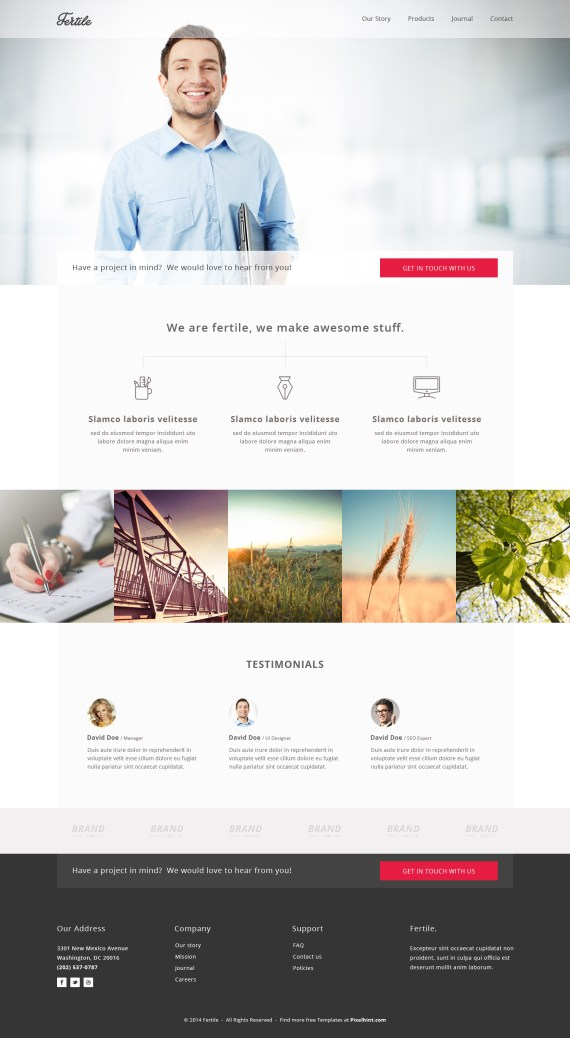 Ferile - A Free HTML5 CSS3 Website Template