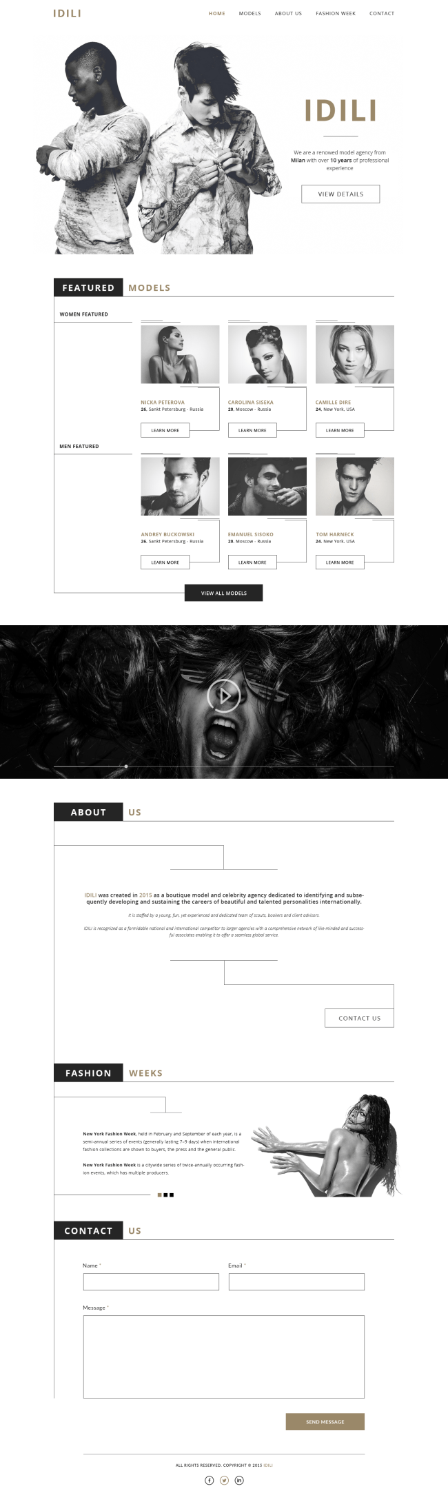 Free PSD Landing Page for Fashion or Agency Websites