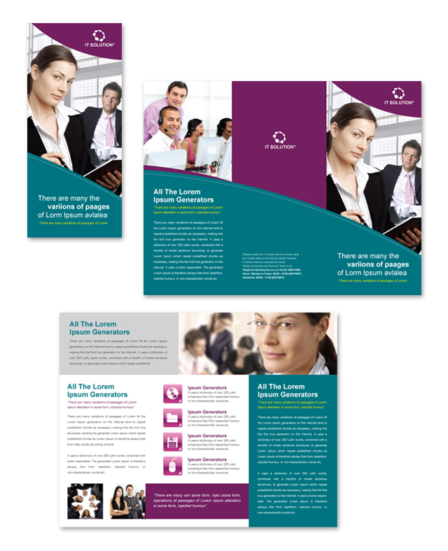 three fold brochure template word