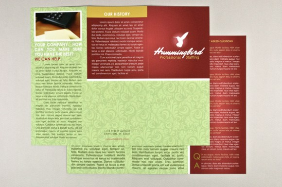 General Tri-Fold Business Brochure InDesign Template