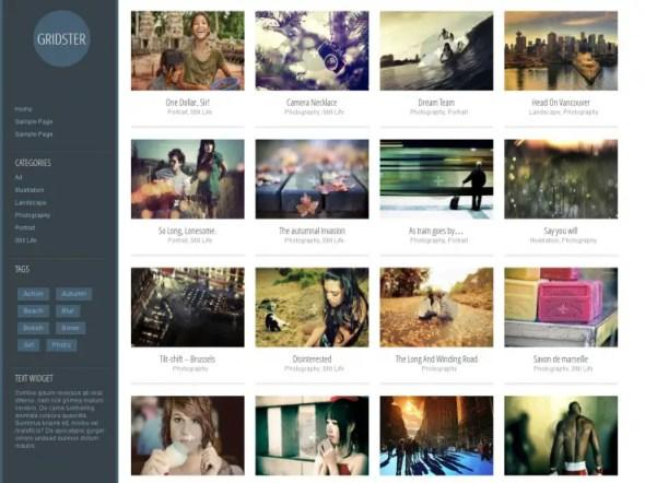 Gridster Lite WordPress Portfolio Theme