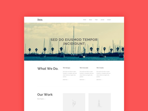 Heros - Free HTML5 and CSS3 Agency Website Template