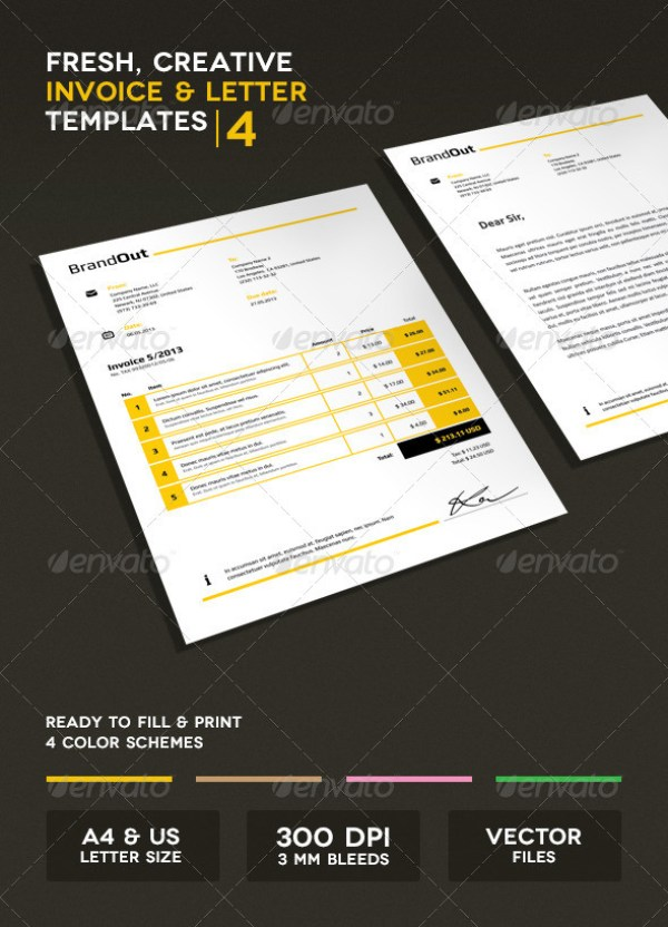 Invoice & Letter Templates IV