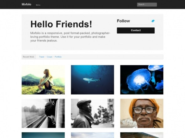 Mixfolio WordPress Portfolio Theme