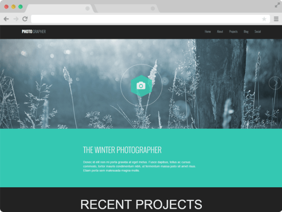 Photographer - A Responsive One Page Photography Website Template
