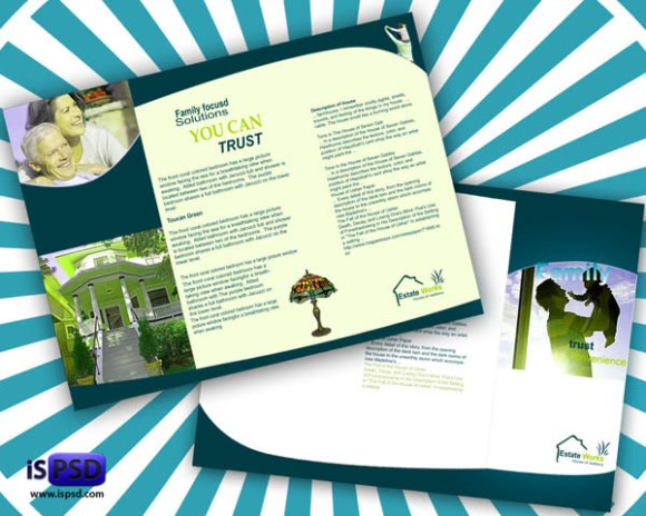 65 print ready brochure templates free psd indesign ai for Real estate brochure templates psd free download