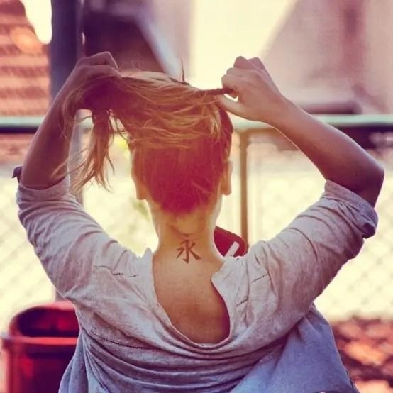 35 Splendid Back Of Neck Tattoo Designs: 35+ Simple And Beautiful Back Of Neck Tattoos Designs For