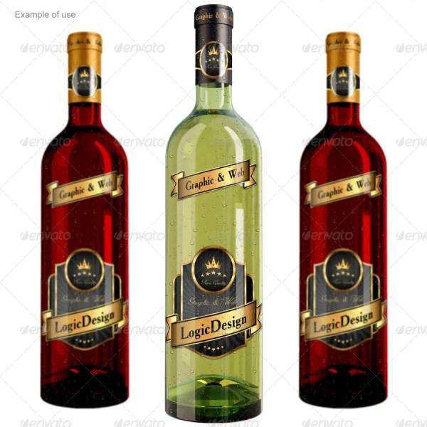 Bottle Wine Mockup