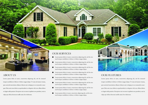 Print Ready Brochure Templates Free PSD InDesign AI Download - Real estate brochures templates free