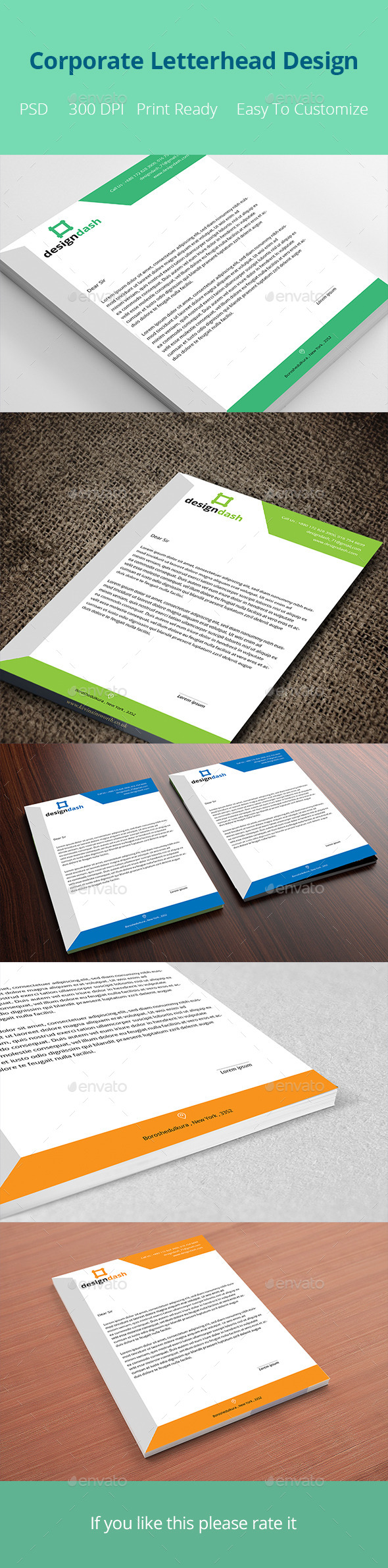 Corporate Letterhead Design Template