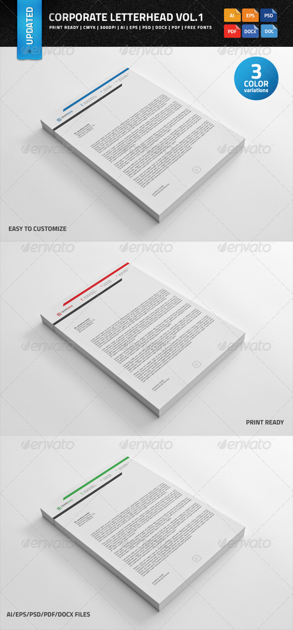 Corporate Letterhead vol.1 with MS Word Doc