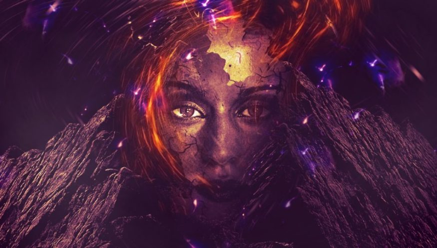 Create Rocky Face Manipulation with Abstract Lighting Effect in Photoshop