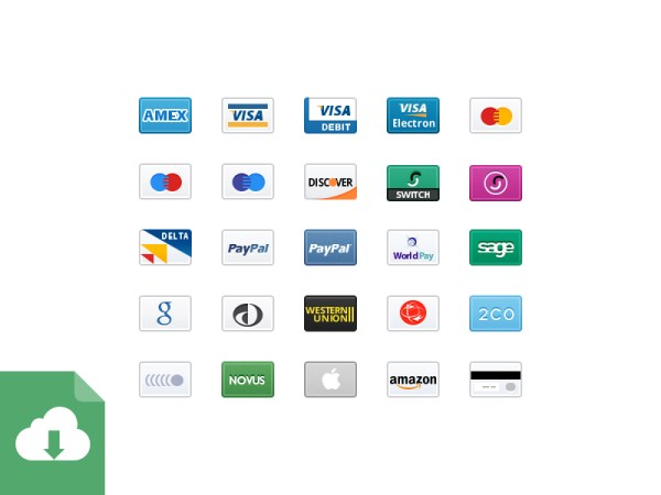 Credit Card Icons 2x - Free Download
