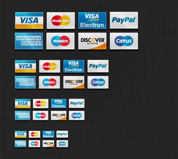 Credit Card Icons Set PSD