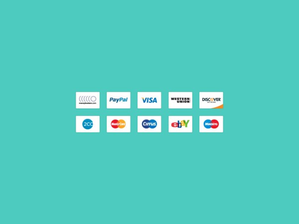 Credit Card Icons Vector and PSD