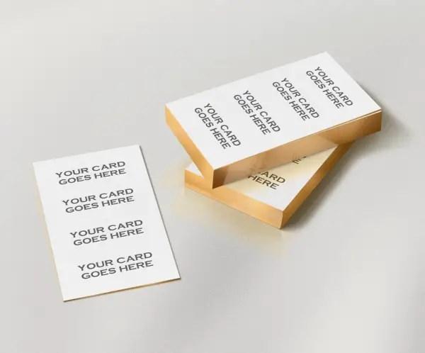Free Gold Edge Letterpress Business Card Mockup PSD
