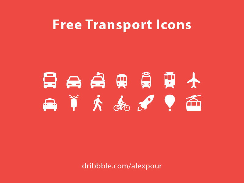 Free Transport Icons AI