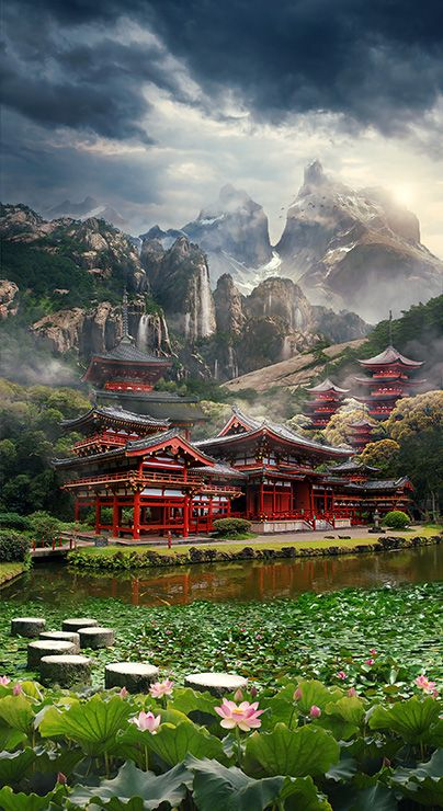 How to Create a Mysterious Matte Painting Landscape in Photoshop