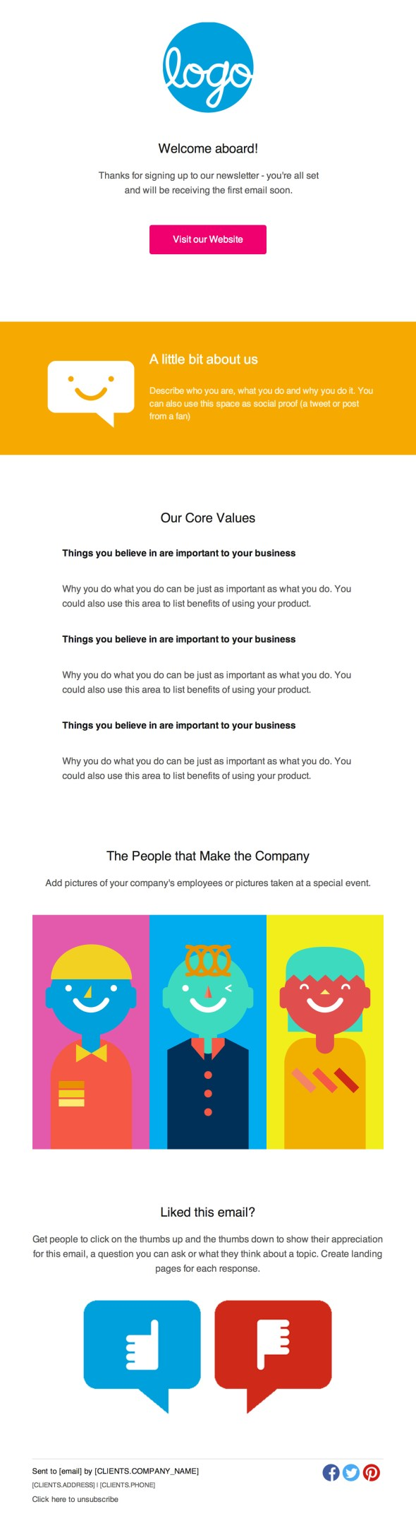 36 best email newsletter templates free psd html for How to create an email newsletter template