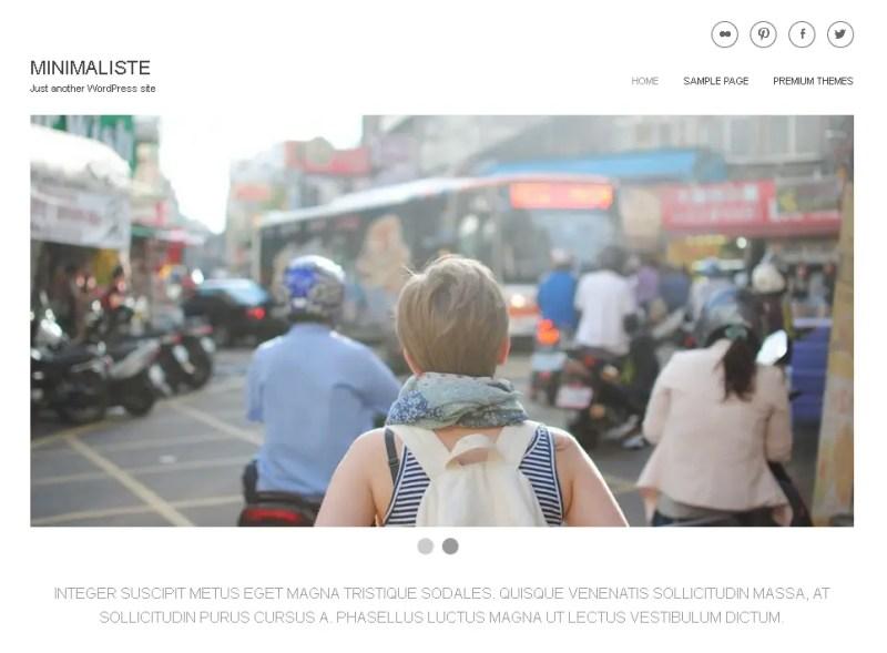 Minimaliste WordPress Photography Theme