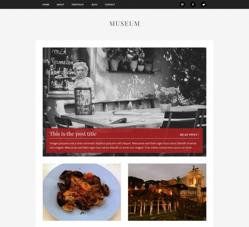 Museum WordPress Photography Theme