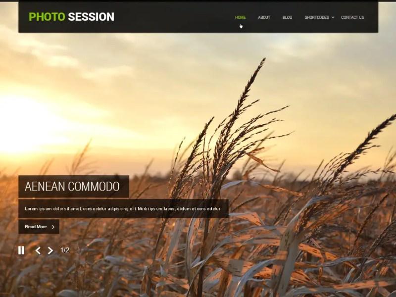 Photo Session WordPress Photography Theme