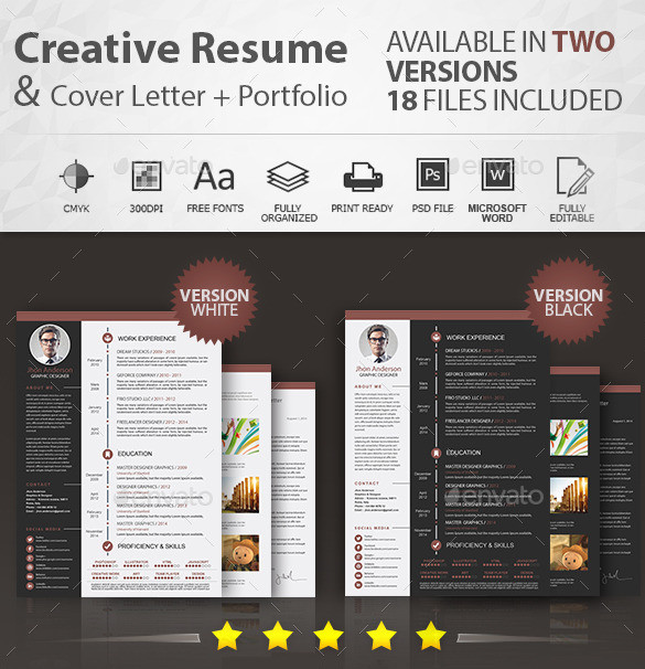 Resume Template PSD