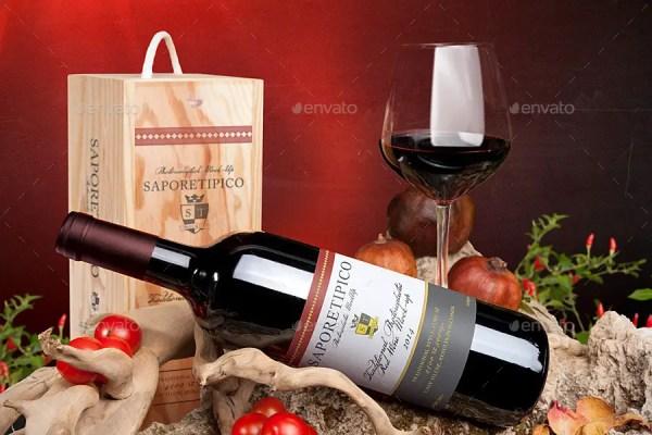 Sapore Tipico - Red Wine Branding Mockups